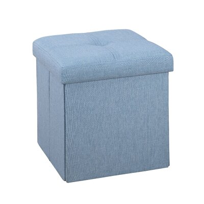 Tindall Storage Ottoman Upholstery: Seafoam