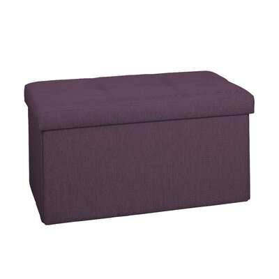 Lindsey Double Folding Storage Ottoman Upholstery: Burgundy