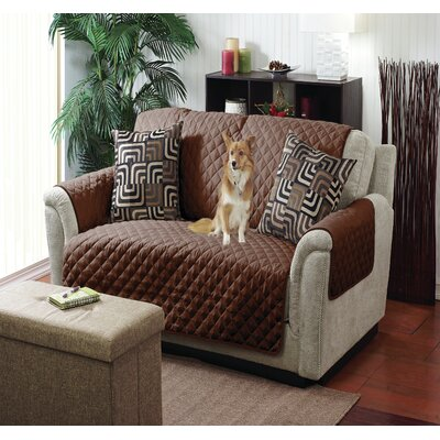 Reversible Loveseat Slipcover Color: Choco