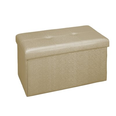 Kestner Double Folding Storage Ottoman Upholstery: Gold