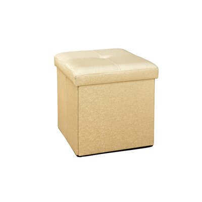Lindsey Cube Storage Ottoman Upholstery: Bronze