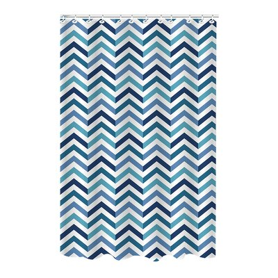 Romanowski Chevron Weave Shower Curtain