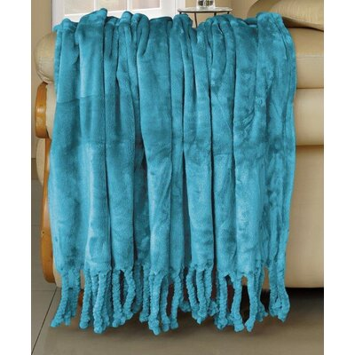 Nantong BNF Textile Co., LTD Flannel Fleece Braided Throw - Color: Baltic Blue at Sears.com