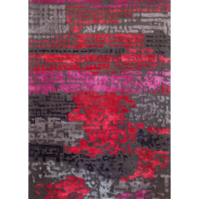 Kadin Red Area Rug Rug Size: 75 x 96
