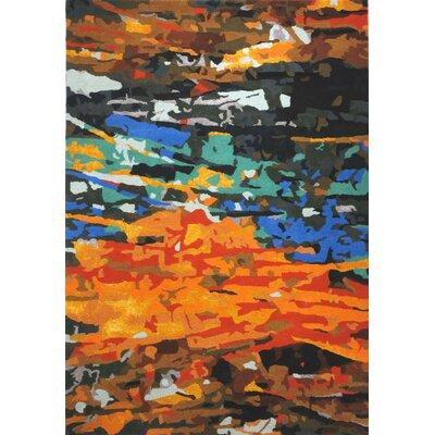 Susanna Hand-Tufted Orange Area Rug Rug Size: 5 x 73