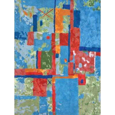 Susanna Hand-Tufted Blue/Green/Red Area Rug Rug Size: 5 x 73