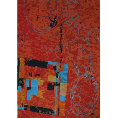 Susanna Hand-Tufted Red Area Rug Rug Size: 75 x 96