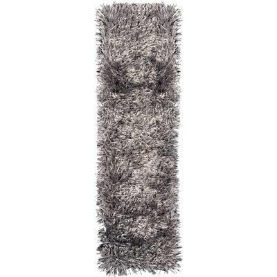 Fettuccine Silver Area Rug Rug Size: Runner 26 x 8