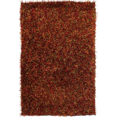 Tina Red/Brown Area Rug Rug Size: Rectangle 75 x 96