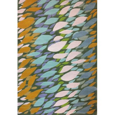 Randal Blue/Green Area Rug Rug Size: 75 x 96