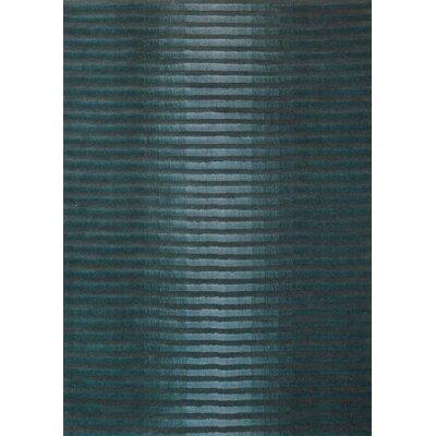 Boardwalk Marine Blue/Dark Grey Area Rug Rug Size: 5 x 73