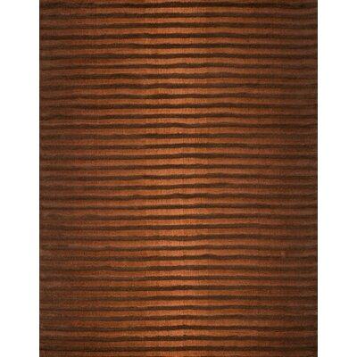 Boardwalk Copper/Brown Area Rug Rug Size: 5 x 73