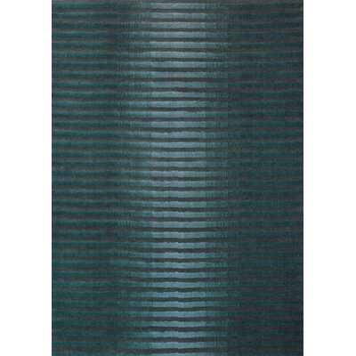 Boardwalk Marine Blue/Dark Grey Area Rug Rug Size: 75 x 96