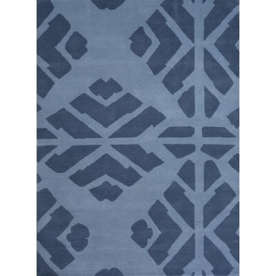 Boardwalk Hand-Tufted Blue Area Rug Rug Size: 75 x 96