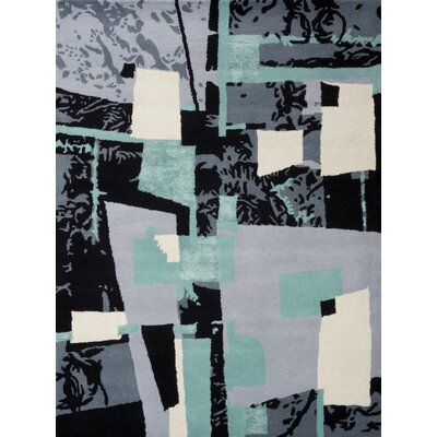 Kadin Hand-Tufted Black Area Rug Rug Size: Rectangle 75 x 96
