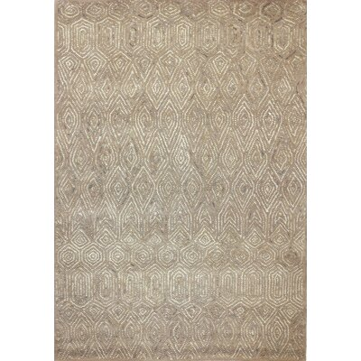 Cleavenger Hand-Tufted Beige Area Rug Rug Size: Rectangle 5 x 73