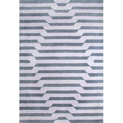 Randal Hand-Tufted Pewter/Grey Area Rug Rug Size: Rectangle 5 x 73