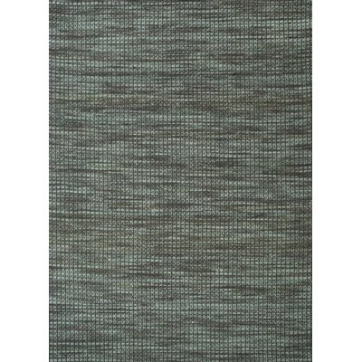 Noe Hand-Woven Green / Charcoal Area Rug Rug Size: Rectangle 5 x 73