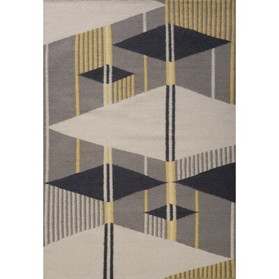 Jess Hand Woven Gray/Yellow Area Rug Rug Size: 5 x 73