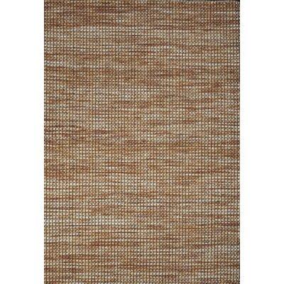 Noe Hand-Woven Rust Area Rug Rug Size: 5 x 73