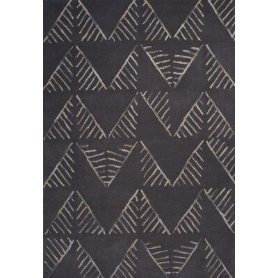 Gatson Hand-Tufted Gray Area Rug Rug Size: 5 x 73