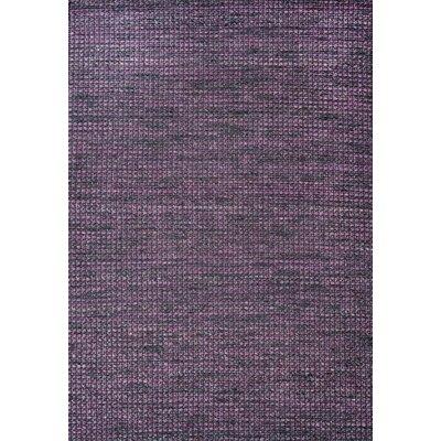 Noe Hand-Woven Purple Area Rug Rug Size: 75 x 96