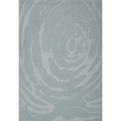 Alloy Hand-Tufted Gray Area Rug Rug Size: 5 x 73