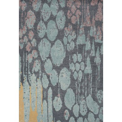 Cleavenger Hand-Tufted Blue/Gray Area Rug Rug Size: 75 x 96