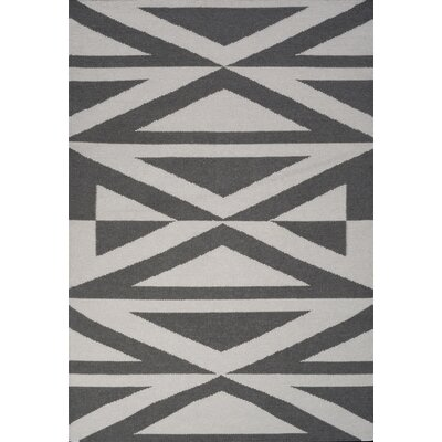 Jess Hand Woven Gray Area Rug Rug Size: 75 x 96