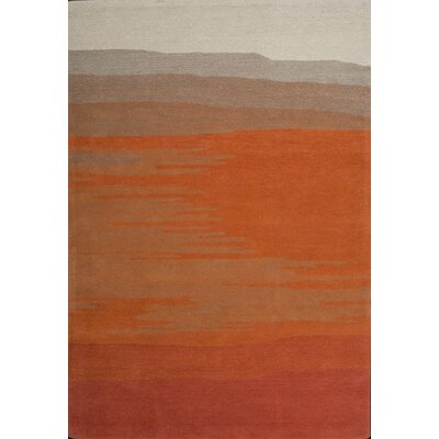 Joutel Hand-Tufted Orange Area Rug Rug Size: 5 x 73
