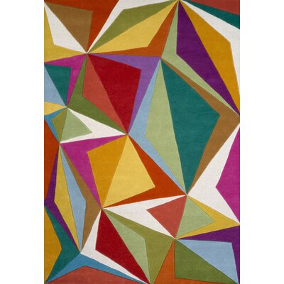 Kadin Hand-Tufted Green/Yellow Area Rug Rug Size: 5 x 73