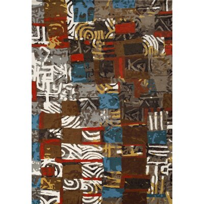 Cleavenger Hand-Tufted Brown/Gray Area Rug Rug Size: 75 x 96