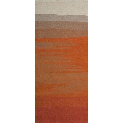 Boardwalk Hand-Tufted Orange Area Rug Rug Size: Runner 26 x 8