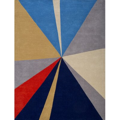 Kadin Hand-Tufted Blue/Gray Area Rug Rug Size: 5 x 73