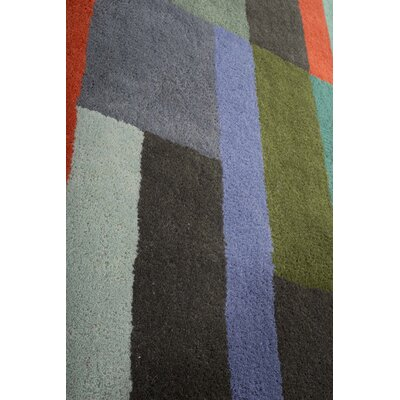 Boardwalk Hand-Tufted Green/Blue Area Rug Rug Size: 75 x 9