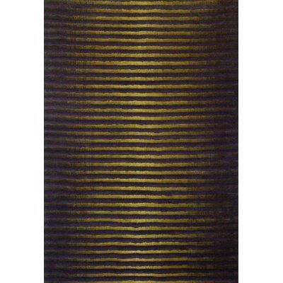 Luna Olive/Brown Area Rug Rug Size: 75 x 96