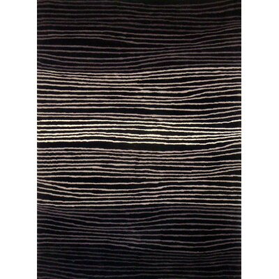 Boardwalk Black/Grey Area Rug Rug Size: 5 x 73