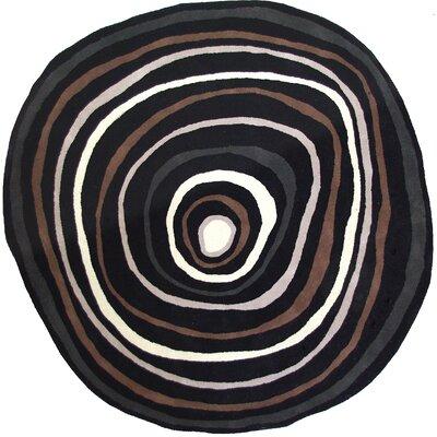 Cleavenger Black Area Rug Rug Size: Round 75