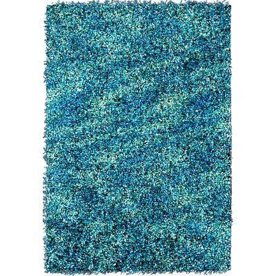 Starburst Turquoise Area Rug Rug Size: 75 x 96