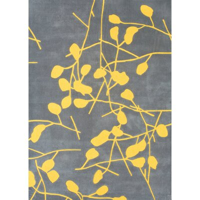 Fager Grey Floral Area Rug Rug Size: Rectangle 5 x 73