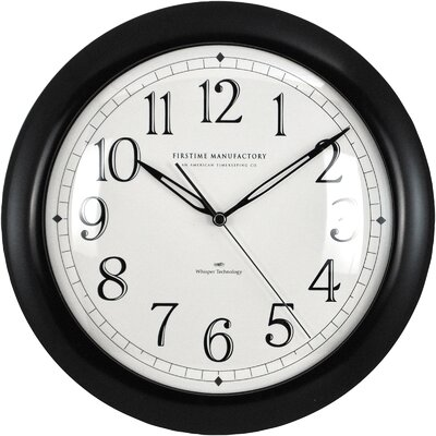 11 Slim Wall Clock Color: Black