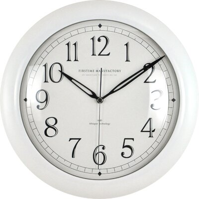 11 Slim Wall Clock Color: White