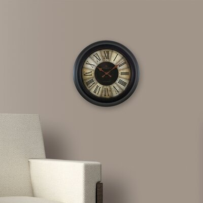 13 Divided Amber Wall Clock