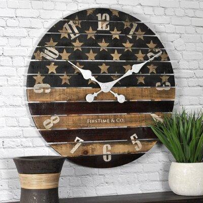 "Old Glory 18"" Wall Clock AGGR6798 40078797"