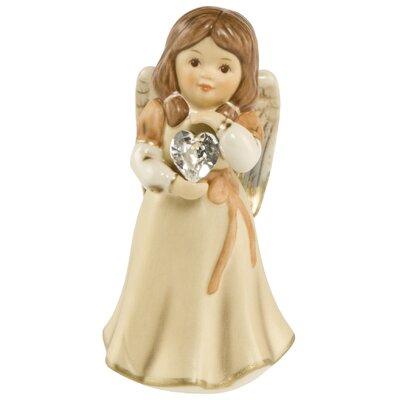 Dekorationsfigur Ich bin Dein Schutzengel Weihnachten | Dekoration > Figuren und Skulpturen > Engel | Beige | Stein | Goebel