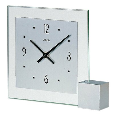 Tischuhr | Dekoration > Uhren > Standuhren | Chrome | Glas - Aluminium - Holz | AMSUhrenfabrik