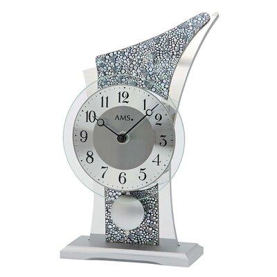 Pendeltischuhr | Dekoration > Uhren > Standuhren | Gray | Kunstleder - Aluminium - Holz - Metall | AMSUhrenfabrik