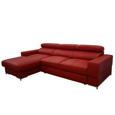 Boxford Leather Sleeper Sectional