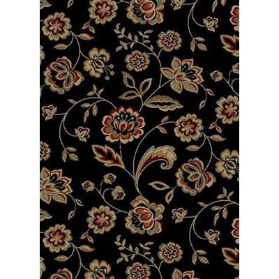 City Black Flora Area Rug Rug Size: 5 x 8