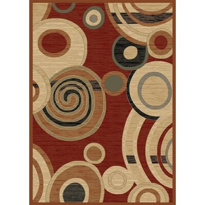 City Ritz Claret Area Rug Rug Size: 5 x 8